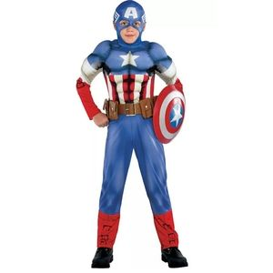Boys Small Captain America Muscle Costume